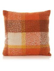 George Home Orange Check Cushion