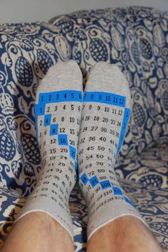The Multiplication Table 'Cheat Feet' Socks are Funny and Helpful trendhunter.com