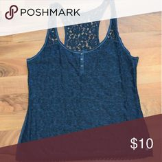 Abercrombie & Fitch Tank Abercrombie & Fitch Crochet/Lace Tank- So cute by itself or underneath a tank! Backside is just the material. Abercrombie & Fitch Tops Tank Tops