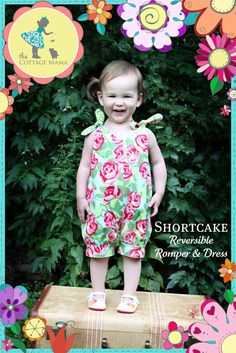 Shortcake Reversible Romper and Dress Pattern by TheCottageMama