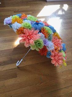 Bright Blooms Umbrella Flower Parasol for Wedding Brides Diy And Crafts, Crafts For Kids, Arts And Crafts, Paper Crafts, Floral Umbrellas, Umbrella Decorations, Flower Costume, Umbrella Wedding, Parasol