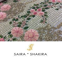 """""""Sneak a peek of #SairaShakira Bridals!! #Workmode #WorkinProgress #BridalSeason"""""""