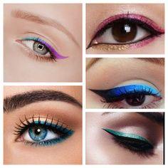Maquilladictas: Tendencias: Delineado de color #trendy #eyelook #eyeliner…