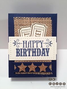 Burlap - money or gift card holder card