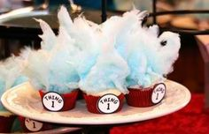 Seuss cupcakes Six Sisters' Stuff: 25 Creative Girl Birthday Party Ideas {party themes} Dr Seuss Cupcakes, Cute Cupcakes, Birthday Cupcakes, Dr Suess Cakes, Party Cupcakes, Girl Birthday, Birthday Parties, Birthday Ideas, Happy Birthday