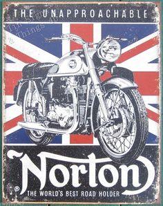 Norton Grand Prix Metal Tin Signs 8x12 Inch Wall Decor Kitchen