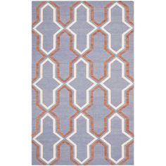 Anchor your dining set or living room seating group in chic style with this hand-woven wool rug, showcasing an eye-catching geometric motif in purple.