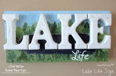 Smoothfoam Lake Life Sign