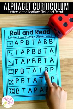 Roll and Read- Letter Identification. Plus tons of other fun ways to teach the alphabet in preschool and Kindergarten! Letter Identification Activities, Letter Activities, Preschool Activities, Teaching The Alphabet, Teaching Reading, Alphabet Games, Guided Reading, Reading Fluency, Early Reading