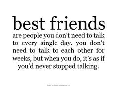 What a best friend really is...describes my friends and i we r so far apart because of distance yet so close when we talk