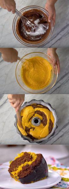 Bolo Mesclado de Cenoura e Chocolate #bolo #bolomescladodecenoura#comida #culinaria #gastromina #receita #receitas #receitafacil #chef #receitasfaceis #receitasrapidas