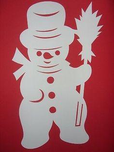 Window picture winter cardboard snowman m. Broom white 32 cm - Window picture winter cardboard snowman m. Christmas Wood, Christmas Snowman, Christmas Crafts, Funny Snowman, Christmas Window Decorations, Arts And Crafts, Paper Crafts, Winter Pictures, Winter Art