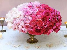 Ombre by Botany Flowers! You Can Do This: Make an Ombre Floral Centerpiece for Valentine'sDay