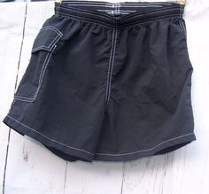 Lifeguard Shorts Water Safety Products Black Small Made in USA Vtg Board #WaterSafetyProducts #BoardShorts