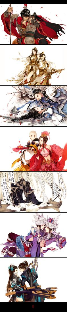 Couples - Beautiful Drawings and pretty awesome clothes - Drwaing Reference Manga Anime, Comic Manga, Manga Art, 3d Fantasy, Fantasy Kunst, Character Inspiration, Character Art, Couple Manga, Art Asiatique