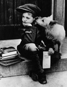 vintage everyday: 15 Funny Old Pictures of Cute Kids with Their Lovely Pets
