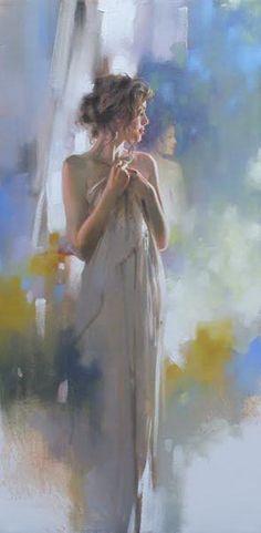 Hidden Reflection - 24x12 - Richard S. Johnson - Addison Art Group