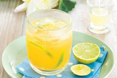 If you're feeling a little under the weather, this refreshing non-alcoholic punch will revive you! If you're still partying - just add vodka or white rum. Oh and Happy New Year!
