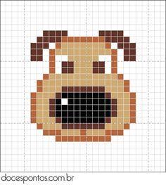 Beaded Cross Stitch, Cross Stitch Charts, Cross Stitch Designs, Cross Stitch Embroidery, Cross Stitch Patterns, Pixel Pattern, Dog Pattern, Hama Beads Patterns, Beading Patterns