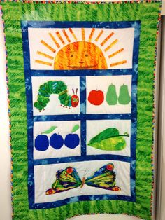 Eric Carle's delightful Very Hungry Caterpillar Quilt