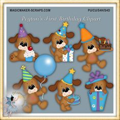 Hey, I found this really awesome Etsy listing at https://www.etsy.com/listing/195201555/dog-birthday-party-clipart