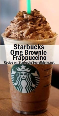 Frappuccino Brownie Frappuccino in Starbucks Secret Menu.Brownie Frappuccino in Starbucks Secret Menu. Secret Starbucks Drinks, Starbucks Secret Menu Drinks, Starbucks Coffee, Coffee Frappuccino, Starbucks Frappe Recipe, Cafeteria Menu, Smoothie Recipes, Desserts, Gastronomia