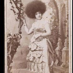 1880's .. I love her hair and unusual for this era.