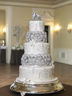 124 best Wedding Cake  Bling images on Pinterest   Beautiful wedding     Bling Wedding Cake designed by Bonnie Gordon