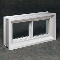 ips 32 x 14 white vinyl single sliding basement window at menards rh pinterest com menards basement windows replacement menards basement windows 17 by 34