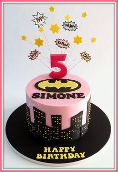 Batgirl themed cake