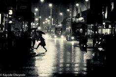 """Rainy Night"", by Kayode Okeyode, via 500px. Oxford Circus, London."