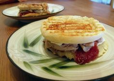 Cranberry turkey paninis