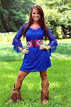 Wings Of A Dove Tunic Dress Royal $42.99 #SouthernFriedChics