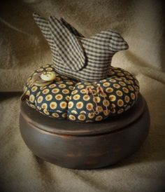 Primitive Vintage Sewing Box Sewing Box by PrimitiveBlackHat