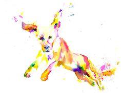Print of Watercolor Painting Cowabunga 8 x 10  by ArtbyJessBuhman, $25.00