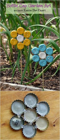 DIY Crafts Made With Bottle CapsHow To Make Bottle Cap Flowers-These DIY bottle caps crafts will allow you to make projects by using them in a creative and gorgeous way. You can easily upcycle bottle caps and make many amazing crafts Diy Bottle Cap Crafts, Beer Cap Crafts, Bottle Cap Projects, Beer Cap Art, Beer Bottle Caps, Bottle Cap Art, Beer Caps, Diy Crafts How To Make, Tin Can Crafts