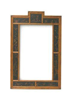 Black Chinoserie Mirror | eGlobalLiving.com