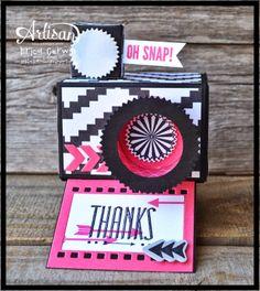 Pink Buckaroo Designs- camera thank you card