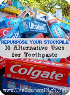 Repurpose Your Stockpile–10 uses for Toothpaste.  I used one tip the other day and it saved me from buying a new iron worth $100.