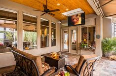 A Flip Down TV Lift on a beautiful patio! If you don't have enough overhead space to install a Drop-Down TV lift, the CL-65 is the perfect solution for maintaining a stunning patio and backyard, while still enjoying modern pleasures.