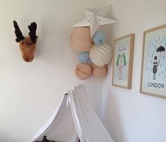 Nursery paper lanterns ! Des lampions dans la chambre de bébé Marius