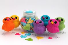 Needle Felted Easter Chick Bright Choose Your by feltmeupdesigns