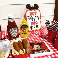 Mickey Mouse Birthday Sign, Hot Diggity Dog Bar Party Decoration, Mickey Mouse Clubhouse Party by FeistyFarmersWife Mickey 1st Birthdays, Mickey Mouse First Birthday, Mickey Mouse Clubhouse Birthday Party, 1st Boy Birthday, Birthday Ideas, Mickey Mouse Baby Shower, Elmo Party, Dinosaur Party, Dinosaur Birthday