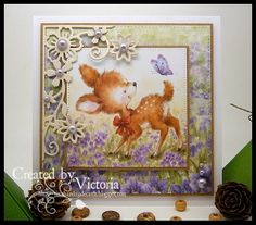 Vixx Handmade Cards: WILD ROSE STUDIO DT POST ~ BLUEBELL AND BUTTERFLY......