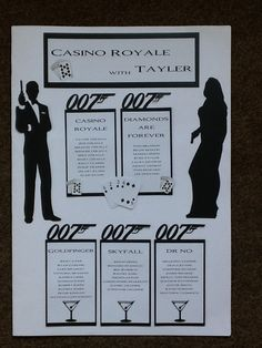 Ideal for any James Bond Themed Party.  Different designs available, contact me for your personalised plan.