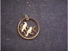 Pendant made from a South African coin, beautiful!