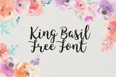 DLOLLEYS HELP: King Basil Free Brush Font