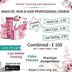 Get a chance of getting more customers by becoming professional beautician. Hurry Up! Grab the opportunity to learn Makeup, Skin and Hair Professional Course offered by Online Training and Education (OTE) website/mobile app and become certified Beautician. Beautician Course, Grab The Opportunity, Learn Makeup, Course Offering, Sun Care, Professional Makeup, Android Apps, Google Play, Mobile App