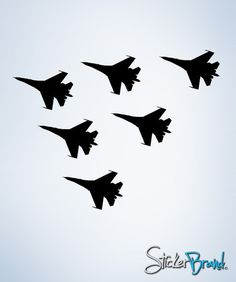 Vinyl Wall Decal Sticker 6 Military Fighter Jets Decal #228   Stickerbrand wall art decals, wall graphics and wall murals.