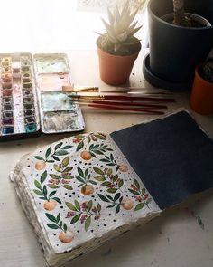 Rambles and Fandoms Art Journal Inspiration, Painting Inspiration, Art Inspo, Watercolor Illustration, Watercolor Paintings, Watercolors, Watercolor Journal, Botanical Art, Doodle Art